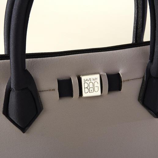 Princess-Bag, Taupe/Schwarz
