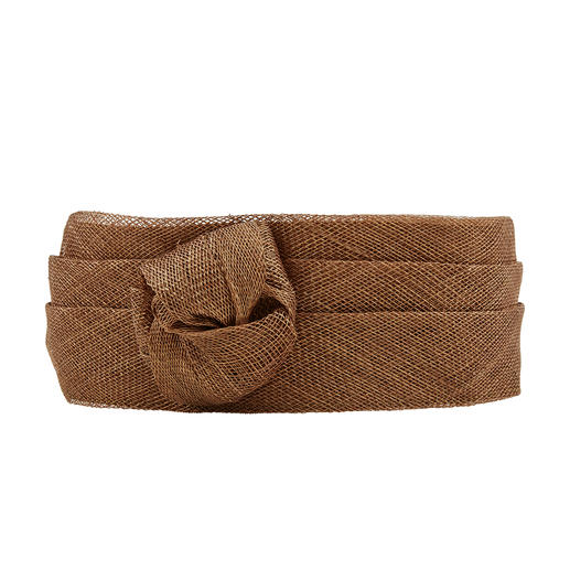 Sinamay-Blüten-Stirnband Luftiges Sinamay. Trendiges Blüten-Dekor. Handgefertigt in Italien.