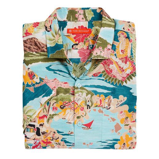 Tori Richard Aloha-Shirt Das Aloha-Shirt von Tori Richard. Hergestellt auf Hawaii.
