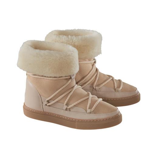 Inuikii Lammfell-Slimline-Boots 100 % modisch. 100 % wintertauglich. Die Lammfellboots von Inuikii.