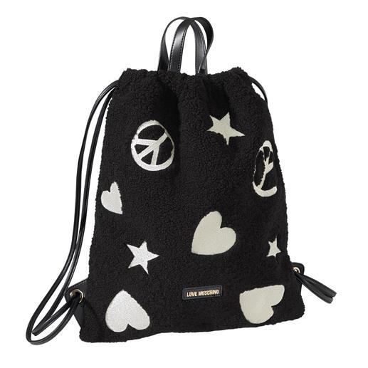 Love Moschino Teddy-Gym-Bag - Von der Turnhalle auf die Laufstege - der Turnbeutel wird zum Fashion-Piece. Stylish und unverkennbar.