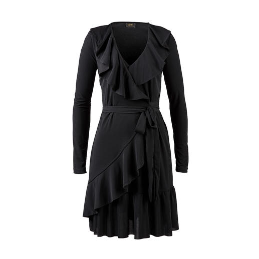 Liu Jo Jersey-Volantkleid Das perfekte Kleid für jeden Tag, fast alle Anlässe, den Koffer und die Waschmaschine.