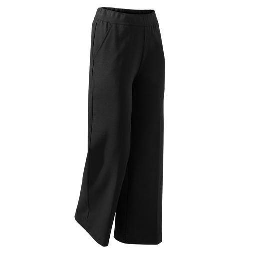 Punto Milano Wide-Leg-Pants - Die perfekte schwarze Hose für jeden Tag und alle Anlässe. Aus edlem Punto Milano-Jersey.