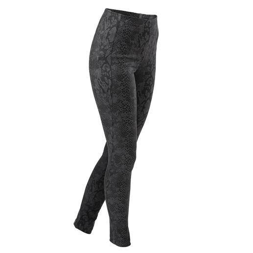 Janice&Jo Leggings faux cuir, Python Luxus-Kunstleder-Leggings vom Spezialisten und Trendlabel: Janice &Jo, Frankreich.