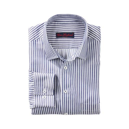 Unter den modischen Blockstreifen-Hemden eines der edelsten. Unter den modischen Blockstreifen-Hemden eines der edelsten.