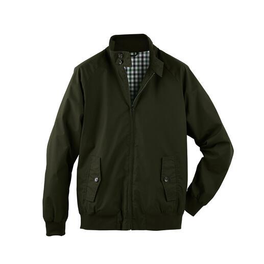 Der Kult-Klassiker Harrington-Jacke – jetzt aus wetterfest gewachster Baumwolle. Hightech vom Traditionsweber Templemoyle.