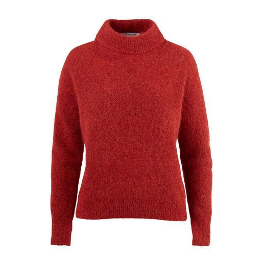 Weniger Flusen, mehr modischer Anspruch: der Mohair-Pullover von Johnnylove. Weniger Flusen, mehr modischer Anspruch: der Mohair-Pullover von Johnnylove.