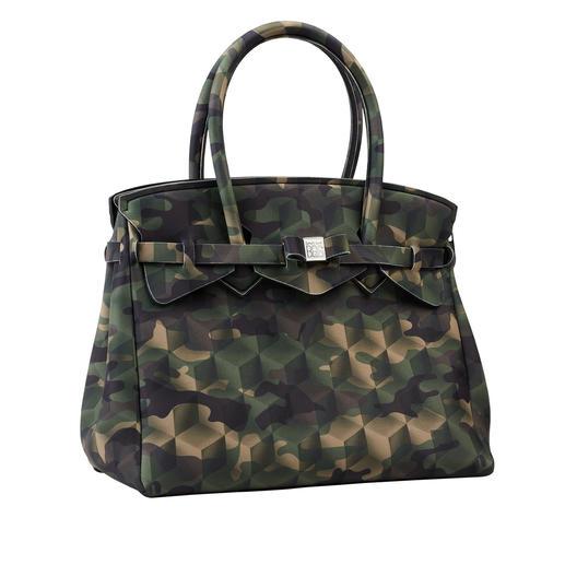 Ultraleicht-Tasche Klassische Form, innovatives Material, modisches Dessin: Diese ultraleichte Handtasche wiegt nur 380 Gramm.