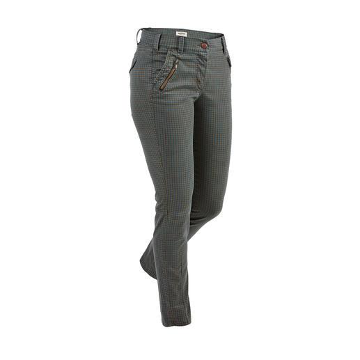 Recover Karo-Skinny-Jeans Hochmodisch und doch altersunabhängig: die karierte Skinny-Jeans von Recover.