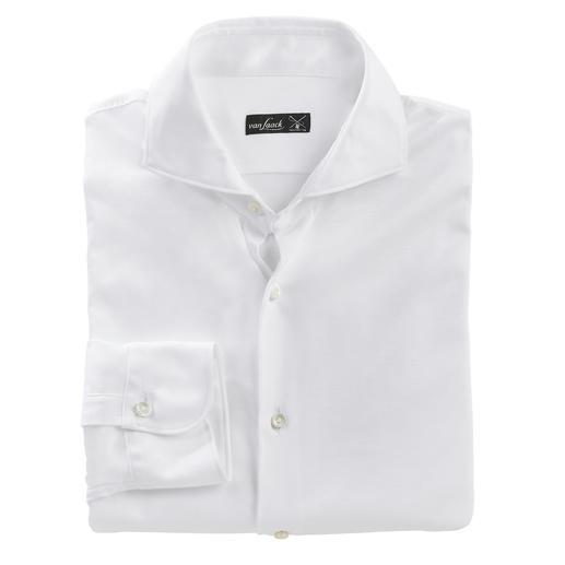 van Laack swiss+cotton-Jerseyhemd Korrekt wie ein luxuriöses Business-Hemd. Bequem wie ein lässiges T-Shirt.