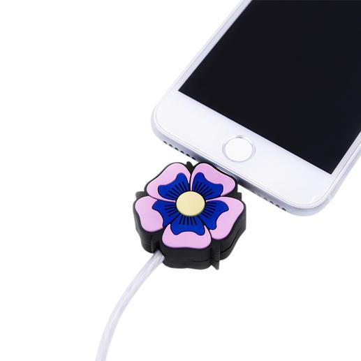 LED-Motiv-Ladekabel, Flower Power Das perfekte Präsent für alle Apple-Fans: die Motiv-Ladekabel mit Leuchteffekt.