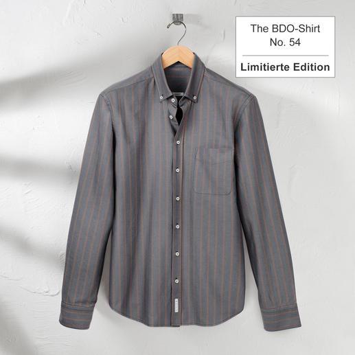 The BDO-shirt, Limited Edition No.54 Entdecken Sie einen guten alten Freund. Und vergessen Sie, dass ein Hemd gebügelt werden muss.
