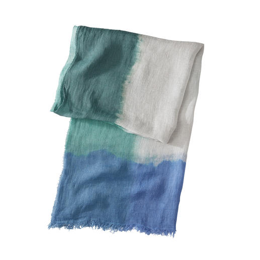 Ancini Dip-Dye-Leinenschal