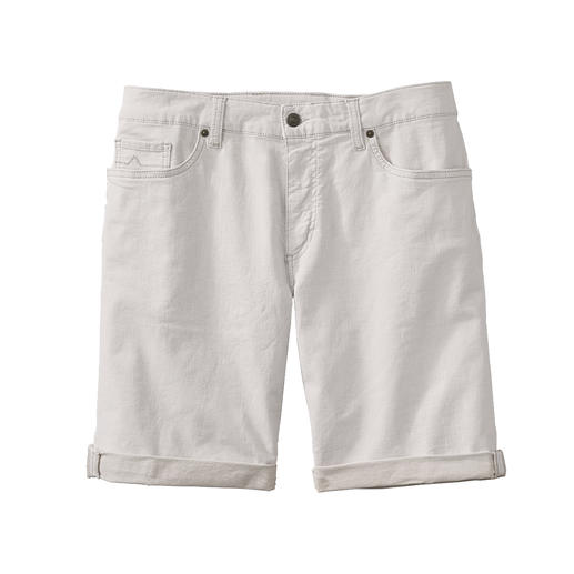 Alberto Leinen-Denim-Shorts Luftiger als andere: Die weiße Jeans-Shorts. Aus Leinen-Denim.