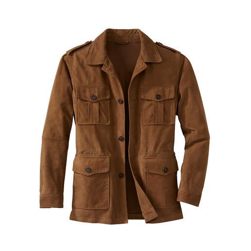 Waschbares Leder-Fieldjacket Ihre Lederjacke für den Sommer – und für die Waschmaschine.