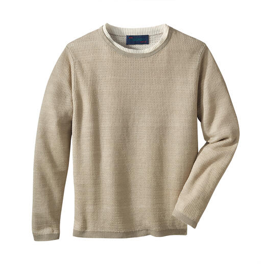 Carbery Leinen-Klima-Pullover Strickkunst made in Ireland. Von Carbery.