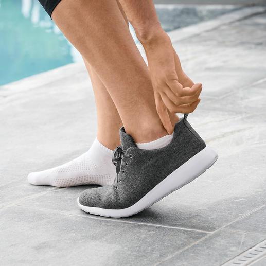 Bamboo-Sneakersocken Herren, Weiß