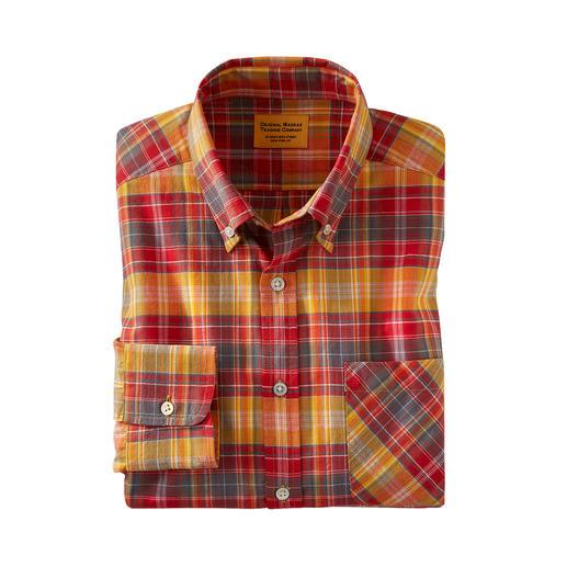 OMTC Madras-Karohemd Das original Madras-Hemd – in Indien traditionell von Hand gewebt.