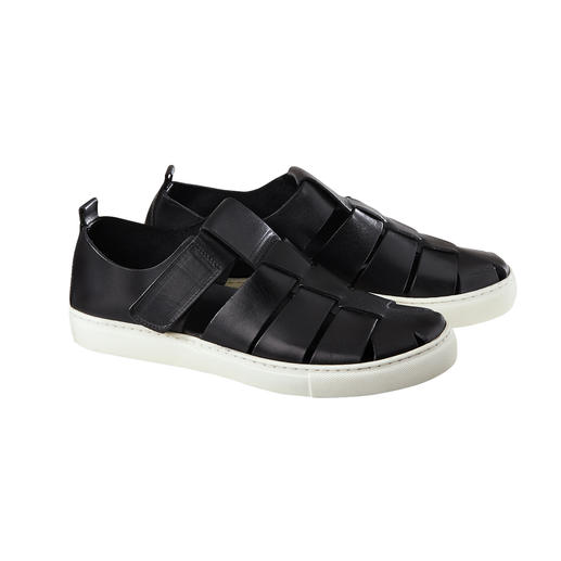 Sneaker-Sandale Die moderne Sneaker-Sandale: Luftige Sandalen-Form. Bequeme Sneaker-Sohle. Und Top-Qualität made in Italy.