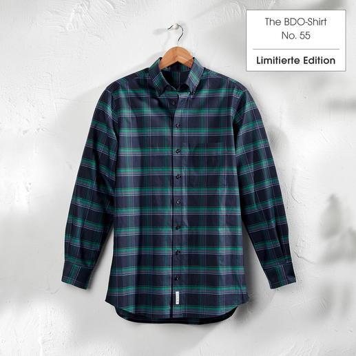 The BDO-Shirt, Limited Edition No. 55 Entdecken Sie einen guten alten Freund. Und vergessen Sie, dass ein Hemd gebügelt werden muss.