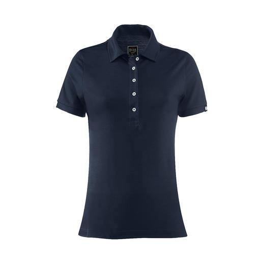 Reda Rewoolution Damen-Poloshirt Merino-Wolle: Kratzfrei. Seidig. Und mit allen Vorteilen, die Sie von High-Performance-Shirts erwarten.