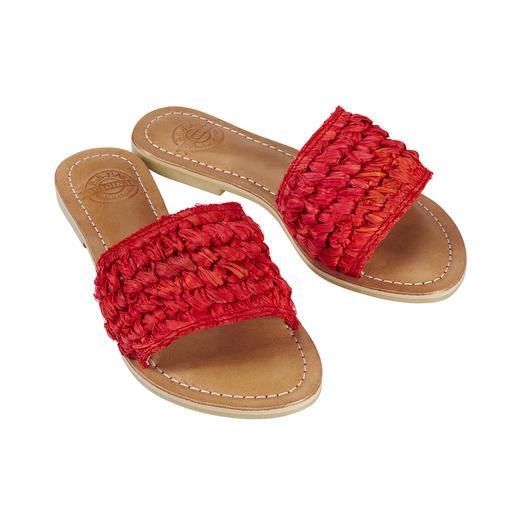 Fashion goes Fair Trade: die handgefertigten Flecht-Pantoletten von Bali-BAli®. Fashion goes Fair Trade: traditionelles balinesisches Kunsthandwerk.