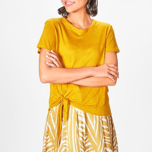 La Fée Maraboutée Leinenstrick-Shirt oder Leinenrock Reines Leinen in seiner wohl modischsten und femininsten Form: Palmblätter-Rock & Knot-Shirt .