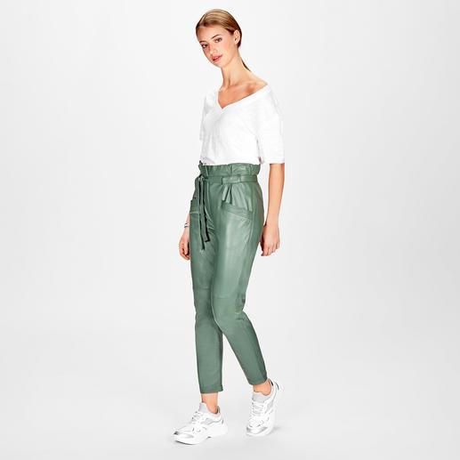 KUDÀ Loose-high-waist-Lederhose - Geheimtipp für alle Fashion-Victims: die Loose-high-waist-Lederhose von KUDÀ.