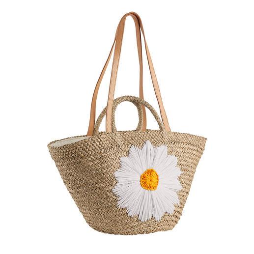 Bali-BAli® Raffia-Tasche Margerite Fashion-Star Strohtasche: soft und schmiegsam statt steif und sperrig.