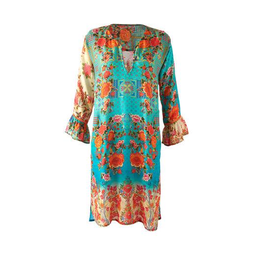 Lula Soul Tunika-Kleid Die Tunika vom vielbesprochenen Hippie- und Ethno-Label Lula Soul. Ethno-Style auf edle und erwachsene Art.