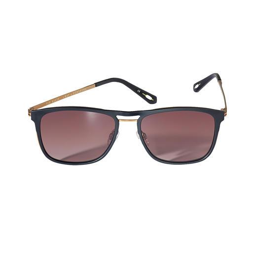 Die Sonnenbrille vom Londoner Trend-Label Ted Baker. Typisch: der modisch-dezente Brit-Chic. Untypisch: der erfreulich günstige Preis.