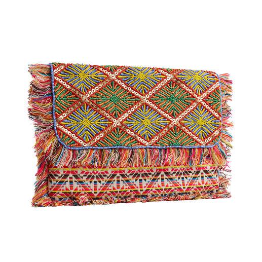 Smitten XL-Clutch Mala Prachtvolle Perlenstickerei und Webkunst, traditionell von Hand gefertigt.