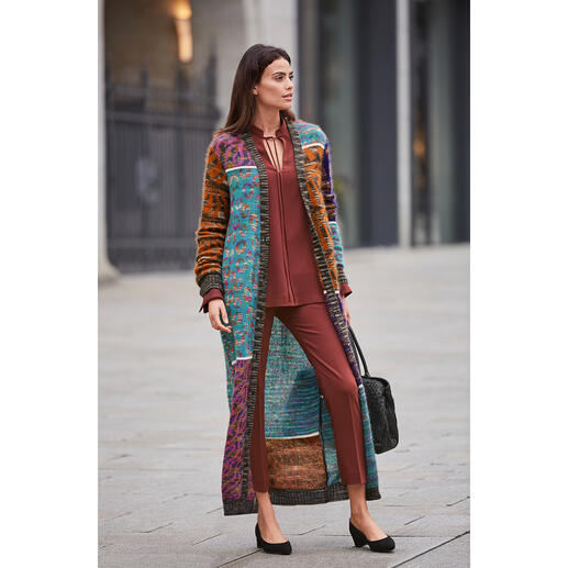 M Missoni Mohair-Maxi-Mantel Fashion-Kunstwerk par excellence: der Mohair-Maxi-Strickmantel vom Couture-Stricklabel M Missoni.