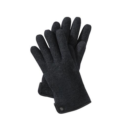 Roeckl Herren-Walkhandschuhe Viel weicher (und wetterfester) als übliche Woll-Handschuhe - dank edlem Walkstoff.