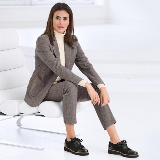 Seventy Mini-Hahntritt-Hose oder -Blazer Modisches Makeover für den klassischen, karierten Anzug: Angesagte Farben. Maskuliner Schnitt. Softer Jersey.