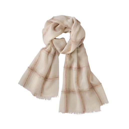 Der leichte, weiche (und stilvoll dezente) unter den modischen Karo-Schals. Der leichte, weiche (und stilvoll dezente) unter den modischen Karo-Schals.