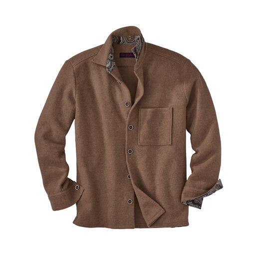 Alpaka-Overshirt Jetzt im Trend: Workwear-Klassiker Overshirt. Neuester Stand: mehr Leichtigkeit durch seltenes Alpaka.