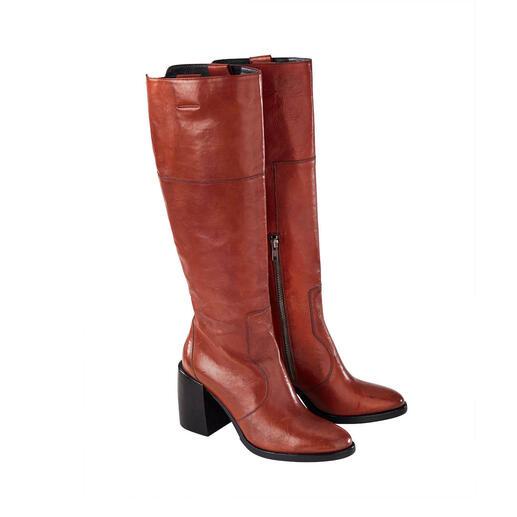 Ducanero® Vintage-Stiefel Selten steckt in modischen Stiefeln noch so viel traditionelle Handarbeit. Aktuelle Schafthöhe und Absatz-Form. Angesagter Vintage-Look.