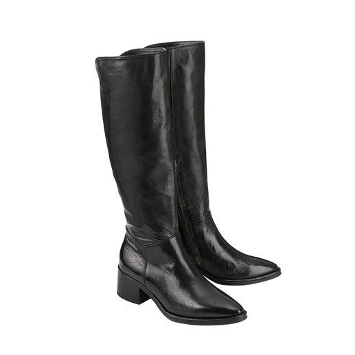 Der modische Langschaft-Stiefel von Ducanero®: selten hochwertiger Qualität zum sehr guten Preis. Traditionelles Schuhhandwerk made in Italy.