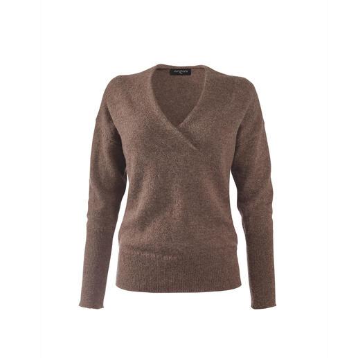 Junghans1954 Alpaka-Basic-Pullover Die Zutaten für den besseren Basic-Pullover: Handverlesenes Baby-Alpaka. Zeitgemäße Details. Flaumweich und doch enorm strapazierfähig.