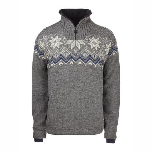 Der winddichte und wasserabweisende Norweger-Pullover, der wirklich noch aus Norwegen kommt. Hergestellt von Outdoor-Strick-Spezialist Dale of Norway, seit 1879.