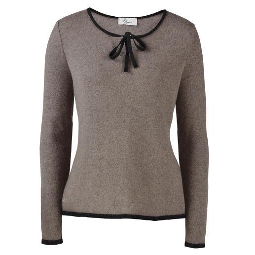 Der Pullover aus seltenem, neuseeländischem Possum-Haar. Warm, weich und leicht. In luxuriöser Mischung mit Kaschmir und Seide.