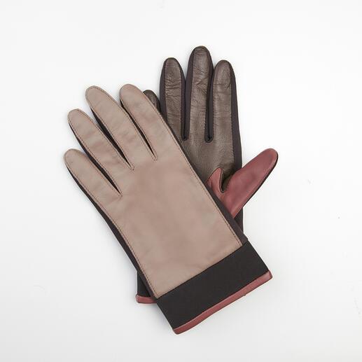 Otto Kessler Lammnappa-Neopren-Handschuh Neopren-Einsätze machen diesen Leder-Handschuh viel flexibler, Trendfarben viel interessanter. Nach alter Tradition handgefertigt. Von Otto Kessler, seit 1923.