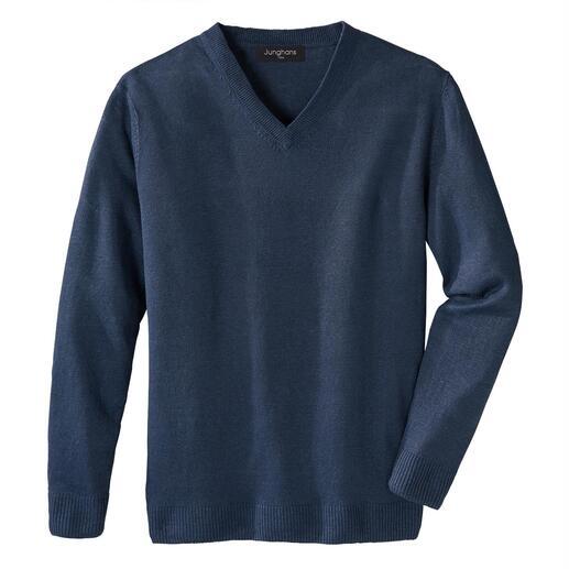 Der sommerleichte Basic-Pullover – eine Rarität aus reinem Leinen. Made in Ireland. Von Junghans 1954.