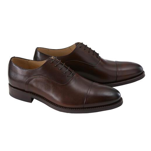 Der erstklassige Business-Schuh für  245,- Euro . Edles Kalbleder in seltener Goodyear Welted-Machart.  Drei Modelle. Von Cordwainer.