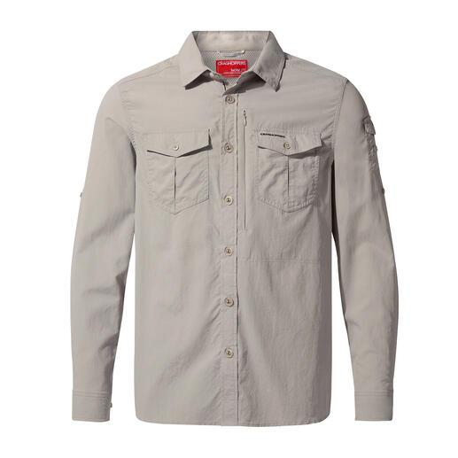 Macht Schluss mit lästigem Auftragen: Kleidung mit integriertem Insektenschutz. Zusätzlich mit UV-Schutzfaktor 40+. Von Craghoppers/UK, Outdoor-Spezialist seit 1965.