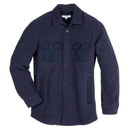 Das klassische Overshirt jetzt aus Teddy-Fleece: warm wie Wolle, aber viel leichter und weicher. Von Outdoor-Spezialist Aigle/Frankreich.