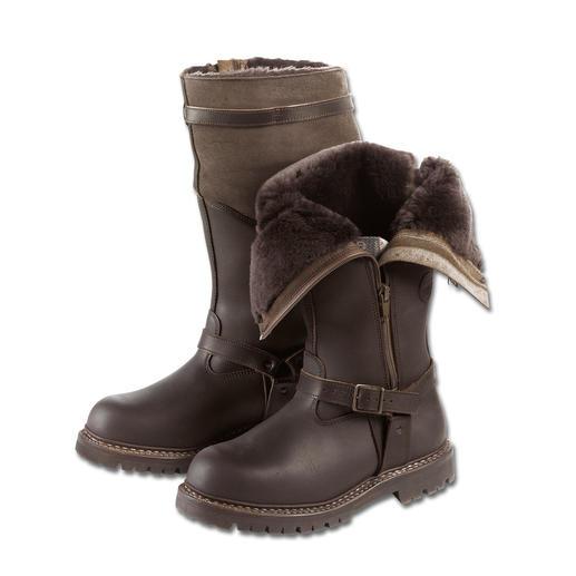 Fliegerpelz-Stiefel Der Fliegerpelz-Stiefel hält Ihre Füße warm und trocken – selbst bei unter minus 15 Grad.