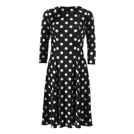 Der beliebte, feminine Klassiker Polka-Dot-Kleid: in zeitgemäßem Schnitt und aus unkompliziertem Material. Von Swing – dem deutschen Kleiderspezialisten mit mehr als 25 Jahren Erfahrung.