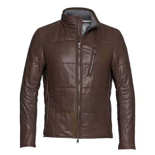 Die Lederjacke aus dem wohl dünnsten Lammnappa der Welt. Made in Germany und limitiert auf 7 Jacken pro Tag. Von Heinz Bauer Manufakt.
